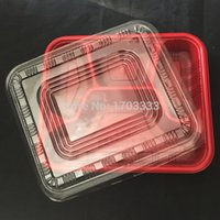 Wholesale 1000pcs Grid disposable lunch box disposable food box keep meals packaged