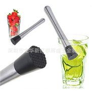 Wholesale Cocktail Muddler Stainless Steel Bar Mixer Barware Mojito Cocktail DIY Drink Vagetable ice cube Mashed Tools