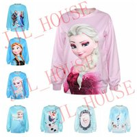 Wholesale 5pcs New Frozen D Digital Printing Women T shirt Multi Style Tshirt Shirts for Women Clothing Hoodie Hoody Fleece Sweatshirts Sweatshirt