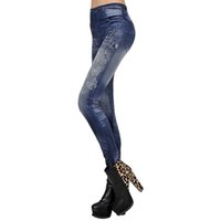 academy sports - Hot Women Sexy Tattoo Legging Jean Look Leggings Punk Sport Academies American Apparel Jeans Pants