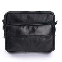 Wholesale Man Waist bag Sheepskin Genuine Leather Wallet Functional outdoor Purse Placed On The Belt Fanny Pack Phone Cases qb025