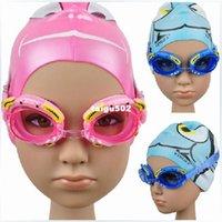 Wholesale I bright cute children cartoon swimming goggles for girl boy waterproof anti fog multi color swimming glasses
