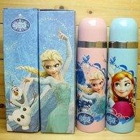 adult baby bottles - Frozen Elsa Anna Princess Cups Water Bottles Baby Girls Boys Cartoon Mug Kids Children Stainless Steel Kettle ML FREE FEDEX TF17