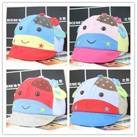 Spring / Autumn baby montage - Peaked Caps Baby Hat Summer New Hot Korean Style Newborn Baby Boys Girls Hats Infant Gifts Children Kids Fashion Cow Cartoon Montage