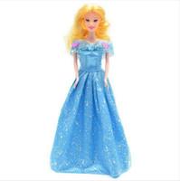 latex cartoon - New Cinderella Dolls for Baby Girls Kids Brinquedos Sharon Plastic Doll Children Princess Toys Birthday Gift In Stock DA021
