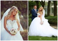 Wholesale Wedding dresses Real Sample Vestido de Novia Sexy Sweetheart Crystal Beads Ball Gown Tulle Lace up Backless Corset WW3448