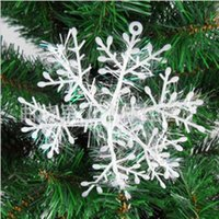 accessories sites - Christmas NecessaryWhiteSnowflake Decorative Fitting Christmas tree Pendant _partySpace on site Arrange Material
