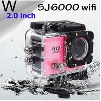 Wholesale 2016 Time limited Promotional Sj6000 Style Wifi Action Camera W9 mp Cmos p Hd Waterproof Diving m Inch Lcd Screen Freeshipping