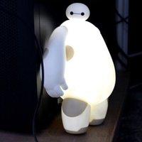 big lamp switch - New Big Hero LED Night Light LED Baymax Night Light Home Decoration Lamp For Kids Gift