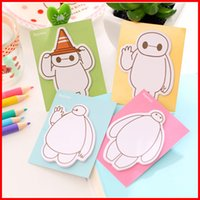 Wholesale Cute Big hero Baymax Scratchpad mini Memo note Bookmark Notepad sticky notes Removable Adhesive Paper message Notes colors