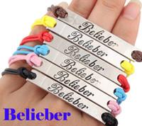 belieber bracelet - 24pcs Justin Bieber Belieber Silver Vintage Charm friendship Mutilcolor Leather bracelets Fans NEW jewelry Gift
