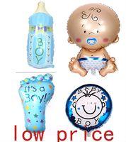 baby boy decor - Hot angel baby boy balloon baby shower baby feet foil baloons baby foot balao for newborn party decor set