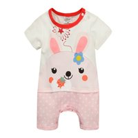 Wholesale New Arrival Baby One Piece Baby Rompers M M Boys Girls Cartoon Romper Flower Print Rompers Clothes B7265