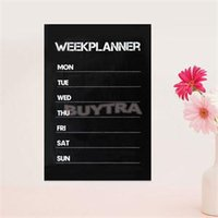 Wholesale 2014 New HOT Weekly Plan Planner Chalkboard Vinyl board Blackboard cm