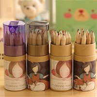 Wholesale 12 Colors Artist Professional Fine Drawing Painting Sketching Writing Drawing Pencil Box Cases MIni Stationary