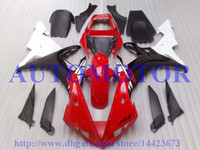 Wholesale Injection mold Fit for YZF R1 YAMAHA YZFR1 YZF1000 YZF R1 Red white black free custom fairing kits TT25