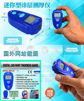 Wholesale EM2271 Digital LCD Coating Thickness Gauge Car Painting Thickness Tester Paint Thickness Meter DIY Instrument mil MM wu