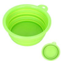 Wholesale Eco friendly Dog Cat Pet Collapsible Travel Feeding Foldable Silicone Bowl