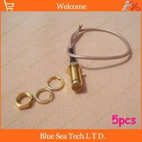 Wholesale 5 piece RG178 cm Gold Plated RF Straight RP SMA Female Jack to uFL u FL IPX IPEX Connector Pigtail Extension Cable