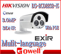 Wholesale IP Camera DS CD2232 I5 MP Mini IR m Bullet With POE DNR D WDR IP66 Security cameras Original Hikvision