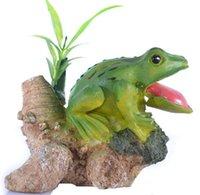 aquarium frogs - Aquarium Landscaping Decoration decoration resin rockery frog aquarium accessories