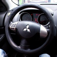 ask cars - nterior Accessories Steering Covers Leather Car Styling Steering Wheel Cover For Mitsubishi Outlander Lancer ASK L200 Pajero