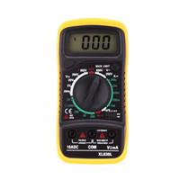Wholesale XL830L Portable Multimetro Digital Multimeter Current Voltage Resistance Transistor hFE Temperature Tester Meter LCD Backlight