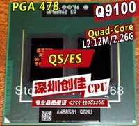 Wholesale Shipping free Laptop cpu processor Intel QS ES Q9100 GHz MB MHz PGA478 scrattered pieces For GM45 PM45