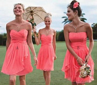 Wholesale 2015 New Hot Sale Short Bridesmaid Dresses Custom Made Capped Strapless Sleeveless Backless Knee Length Plus Cheap High Quality Ball Gown