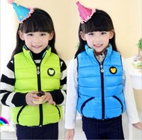 Wholesale Children s Winter Waistcoat Girl s Down feather Outwear Baby Hoodies Jackets girl Outfits Kids Clothing WD1087