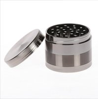 Wholesale Hot Sale Specifications Zinc Alloy Burnisher Colors Tobacco Grinder High Quality Four Layer Metal Mills