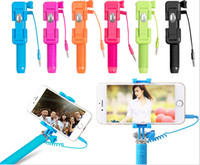 Wireless Wireless Timer Shutter Universal  Universal Handheld Super mini Selfie Stick pen pocket Wired Monopod with Fold Holder for IOS Android phone