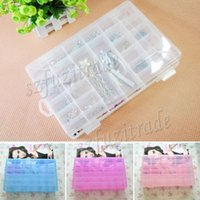 big plastic bins - New Nail Art Empty Compartment Plastic Storage Box Adjustable Earring Jewelry Bin Case Container Big Sewing Box AIA00342