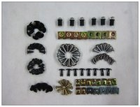 Wholesale Fairing Screw Bolts Kit black For Yamaha iron Stainless steel Fairings Bolts Screws YZF600R YZF R Good quality