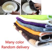 bamboo dish towels - 3PCS Absorbent Bamboo Fiber Kitchen Anti greasy Dish Wash Towel Cleaning Cloth