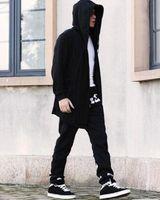 assassin creed hood - New Avant garde Big Hood Double Coat Coat Mens Hoodies Sweatshirts Black Cloak Assassins Creed Jacket Outwear Oversize SMC0042