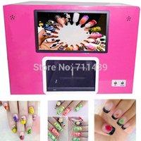 nail color machine - computer and touchable screen build inside black color digital nail printer nail printing machine