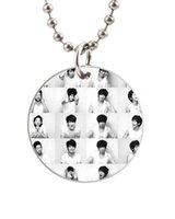 aluminum photo album - Korea Male Rock Band Cnblue Photo Album Customized Colorful Design round Dog Tag Necklace Aluminum Tag for Animal Pets Tag