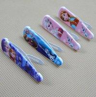 Wholesale High quality girls hairpins children cartoon hair accessories princess elsa anna Hairpin Clip Hair Baby Hair Clip