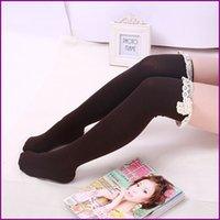thigh high socks - New Style Women Boot Socks Over Knee Cotton Lace Bow Thigh High Sock by express