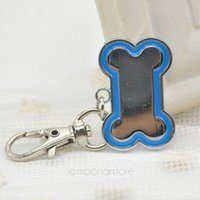 Wholesale Cheapest Pet Id Tags - Wholesale-2015 New High Quality Cheap Small Cute Stainless Steel Metal Bone Shaped Pet Dog Cat ID Tag-Medium Name Tags lx*MHM470*5