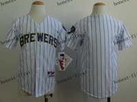 milwaukee - youth milwaukee brewers blank Cheap Wholesales Baseball Jersey Embroidery Name and Logo EME DHL