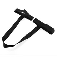 Wholesale Yoga Pilates Mat Exercise Pad Looped Sling Harness Carrying Carrier Strap Hot New Universal Durable Black Polyester