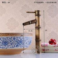 Wholesale BAKALA torneiras vintage antique brass faucet bronze bathroom basin faucet bamboo GZ