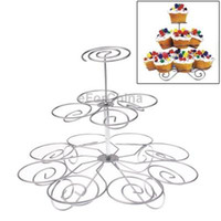 Wholesale 3 Layers Stainless Steel Cup Cake Holder Stand