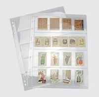 al por mayor álbumes de bolsillo-10 piezas páginas de álbumes de hojas de hojas sueltas 12/20/30/35/42 bolsillos de recogida de monedas 3/7/9 agujero 210/280 204/252 160/196 mm para todas las monedas
