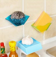 Wholesale 2 colors Sink Drop Rack Kitchen Dish Drying Rack Holder Suction Cup Organizer Drainer Dryer Tray Holder