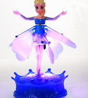 Wholesale Retail Big adventure of ice and snow country remote sensing aisha fly fairy Frozen Remote control induction aisha princess helicopter