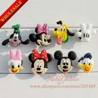 Wholesale Mickey Minnie PVC Shoe Charms fit bands shoes with holes PVC Shoe Accessories Shoe Ornaments