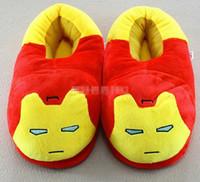 Wholesale 25pcs color kid men women unisex minnions iron man spiderman captain America warm home anti slip soft slippers hql